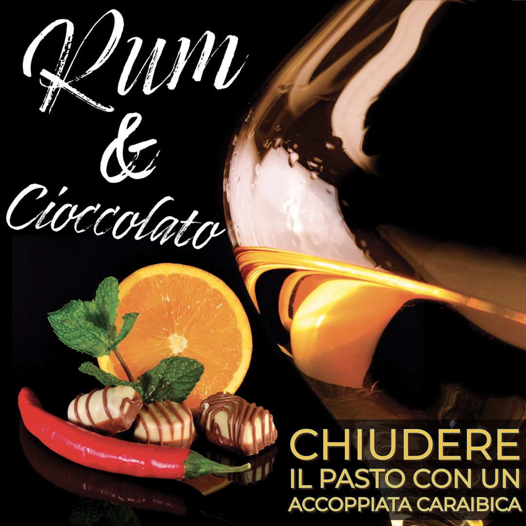 i rum invecchiati più di 5 anni prediligono un cioccolato fondente oltre 70% che permettono di risaltarne il gusto si possono usare alche cioccolate spezziate.